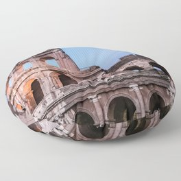 Colosseum at Night Floor Pillow