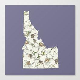 Idaho in Flowers Canvas Print