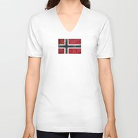 norway V-neck T-shirts featuring Norway by Arken25