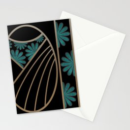 ART DECO FLOWERS (abstract) Stationery Cards