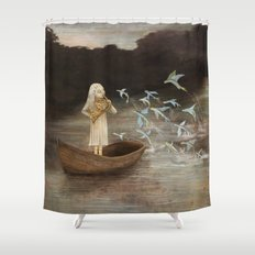 Solo at Dawn Shower Curtain