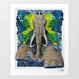 Elefly Art Print