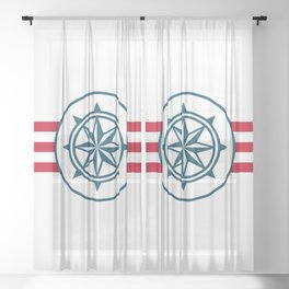 Compass Sheer Curtain