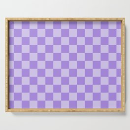 Lavender Check Serving Tray
