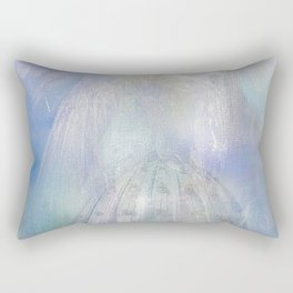 Angel on the city Rectangular Pillow
