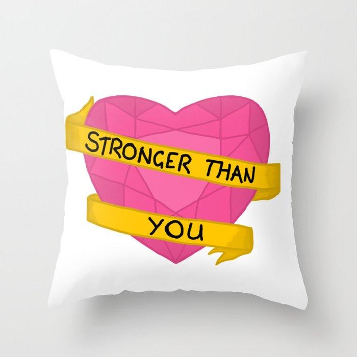 Stronger than you crystal heart Throw Pillow