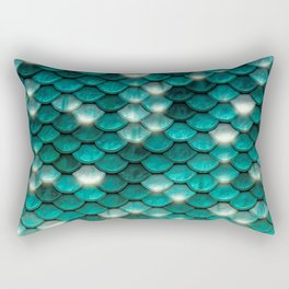 Turquoise sparkling mermaid glitter scales - Mermaidscales Rectangular Pillow