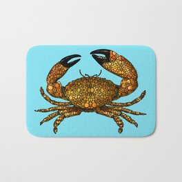 Stone Rock'd Stone Crab By Sharon Cummings Bath Mat