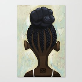 strong hair Canvas Print