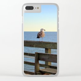 Perched On The Pier Clear iPhone Case
