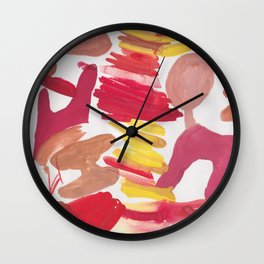 41   | 190408 Red Abstract Watercolour Wall Clock