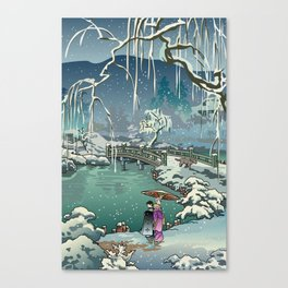 Ukiyo-e: Yuri on Ice Canvas Print