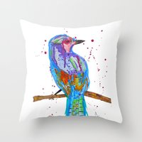 coco Throw Pillows featuring coco by Laurie Art Gallery