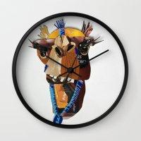 camel Wall Clocks featuring Camel by Ruud van Koningsbrugge