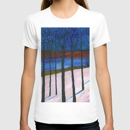 The Lonely Road, Winter Landscape by Marianne Von Werefkin T-shirt