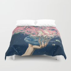 Love Makes The Earth Bloom Duvet Cover