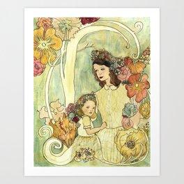 Spring Nouveau Art Print