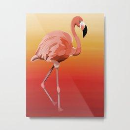 Florence the Flamingo Metal Print