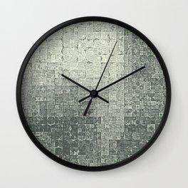 monochrome circles Wall Clock