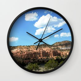 Mesas of New Mexico - Next to the Rock Amphitheater, No. 2 Wall Clock