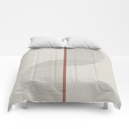 Geometric Composition II Comforters