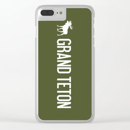 Grand Teton Moose Clear iPhone Case