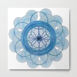 Phuture Phriends Mandala Metal Print