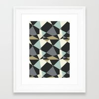 geo Framed Art Prints featuring Geo by SarahFlemingDesigns