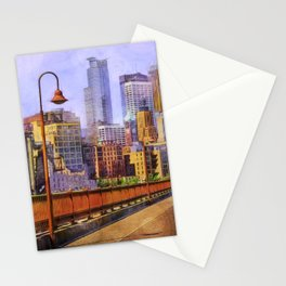 The city is calling my name today. Stationery Cards