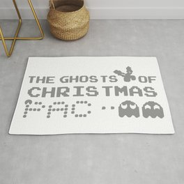 The Ghosts Of Christmas Pacman Rug