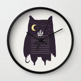 Pirate owl Wall Clock