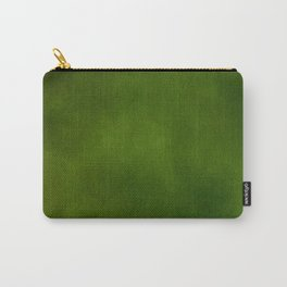 Green Color Velvet Carry-All Pouch
