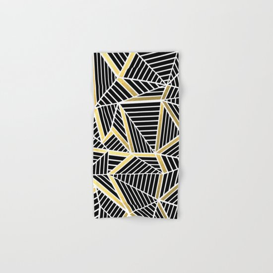 Ab Lines 2 Gold Hand & Bath Towel