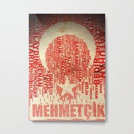 TURKISH FLAG TYPO Metal Print