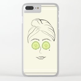 Spa Day Clear iPhone Case