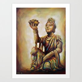 """The Offering Of The Six Devas - Flowers"" Art Print"
