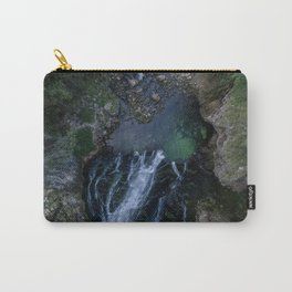 königssee waterfall alps bayern forrest drone aerial shot nature wanderlust vertical lake pool Carry-All Pouch