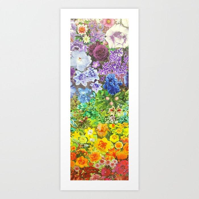 le jardin de la fleur Art Print