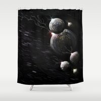 attack on titan Shower Curtains featuring Attack by Thee Xelerator