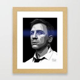 DANIEL CRAIG - BLUE EYES  Framed Art Print