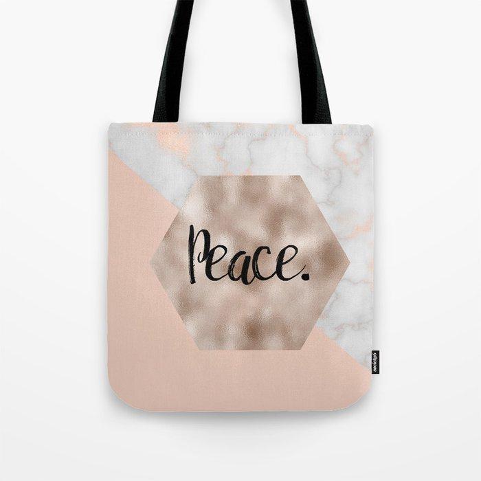 Rose gold layers - peace Tote Bag