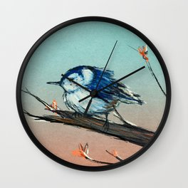 White breasted Nuthatch Wall Clock