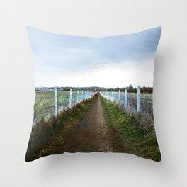 The long Irish way Throw Pillow