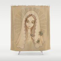 santa Shower Curtains featuring Santa by Juliana Fusco