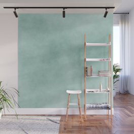 Modern abstract mint green artsy watercolor Wall Mural
