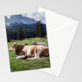 Cows in the Alps Stationery Cards