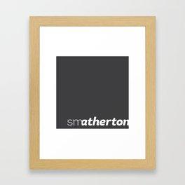 smatherton logo Framed Art Print