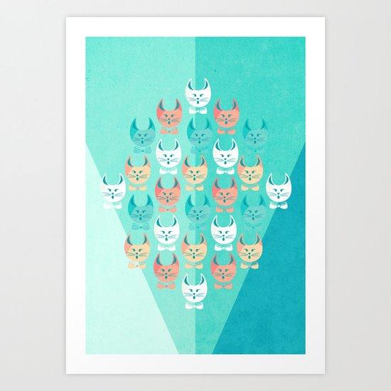 Singing Cats Art Print