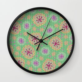 Kantha floral 8 Wall Clock