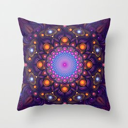 """""""Guardian"""" Mandala painting Throw Pillow"""